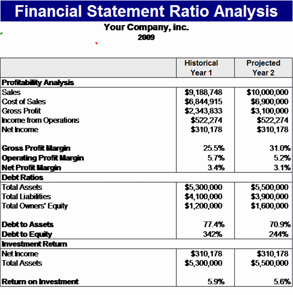 Financial Statement Analysis Timesheet