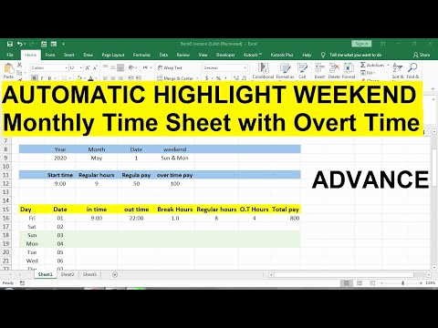 How to Compare Timesheets In Excel