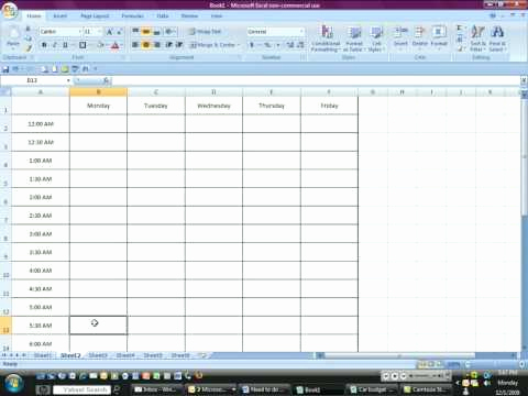 How to Share An Excel Timesheet