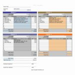 Income Projection Timesheet and Daily Projects Multiple Clients Printable Time Sheet
