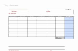 Party Planning Timesheet