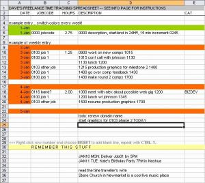 Proposal Tracking Timesheet for Freelance Timesheet Allows totals Per Project