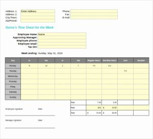 Rcuh Timesheet Template for 27 Blank Timesheet Templates – Free Sample Example format Download
