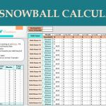 Snowball Credit Card Payoff Timesheet Of Debt Snowball Calculator Digital Excel Planner Spreadsheet
