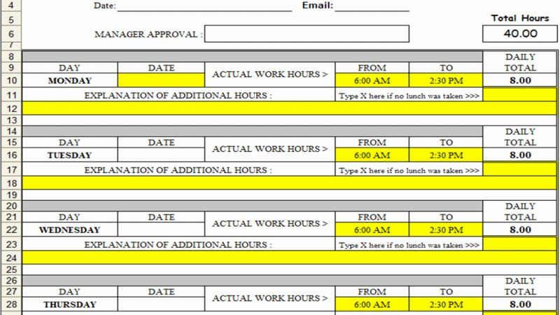 What is A Timesheet In Excel